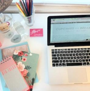 cute blog desk